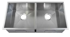 865 x 440mm Double Bowl Handmade Stainless Steel Inset  Kitchen Sink (DS014)