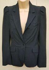Zara Woman Smart Dark Grey Blazer Career Office One Button Jacket Size S, UK 10