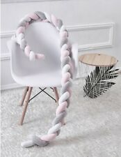Infant Soft Braided Crib Bumper Plush Pillow Fence Sleep Bumper Bed Protection2M