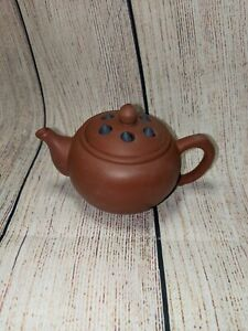 Small Chinese Yixing Teapot - Dark Red Moveable Lotus Seed Lid Design