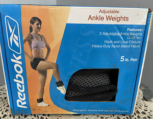 Reebok Adjustable Strap Ankle Weights 2.5 Lbs Each Weight
