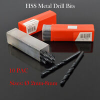10 X Quality HSS Metric Twist Metal Drill Bits Various Sizes 2-8mm Professional