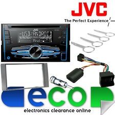 Ford Focus MK2 2005-07 JVC Double Din CD MP3 USB Car Stereo & SILVER Fascia Kit