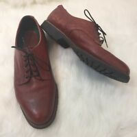 Mens HS Trask Brown Leather Lace Up Oxfords Dress Shoes Size 10.5
