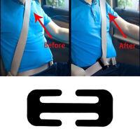 1x Locking Clip Auto Metal Car Safety Seat Belt Adjuster Steel Black Accessories