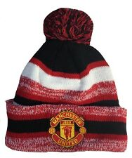 MANCHESTER UNITED HAT BEANIE POM POM COLOR RED BLACK WHITE