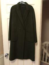 Zara Women Masculine Double-breasted Coat, Green,size L,bnwot