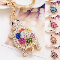 Turtle Keychain Sparkling Keyring Shine Crystal Rhinestones Purse Pendant Pretty