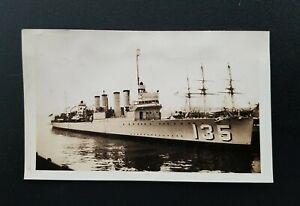 USS Tillman (DD135) United States Navy Wickes-Class Destroyer Ship Vintage Photo