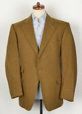 Burberrys Tweed Sakko Jacket Gr 26 52S Made Germany Gold Senf Wolle Wool HERBST