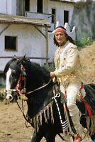 Pierre Brice Pferd 20 x 30 cm Foto nicht signiert ohne Autogramm Nr 2-47