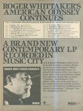 "(SFBK39) POSTER/ ADVERT 14X11"" ROGER WHITTAKER : CHANGES ALBUM & USA TOUR DATES"