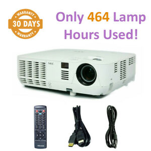 NEC NP-V300X DLP Projector 3000 ANSI HD 3D 1080i HDMI - Only 464 Lamp Hours Used