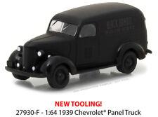 Greenlight 1/64 Black Bandit 18 1939 Chevrolet Panel Truck 27930-F Diecast Car