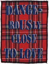 DANGEROUSLY CLOSE TO LOVE SEDITIONARIES PATCH ORIGINAL ENGLISH PUNK ROCK 1977