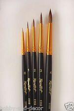 Kolinsky Sable Professional Short Paint Brush Set Watercolor Oil Acryl Roubloff