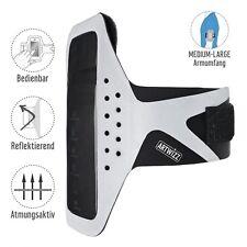 Artwizz Sportsband  Tasche Sport Oberarm Smartphone M-L schwarz silber B-Ware