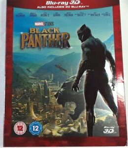 Black Panther 3D and 2D Blu-ray With Slip Cover UK release new Sealed
