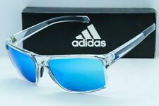 NEW ADIDAS WHIPSTART SUNGLASSES Crystal frame / Shiny Blue Mirror lens a423/00