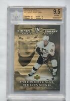 Upper Deck Phenomenal Beginnings Gold Sidney Crosby Jumbo BOX TOP GRADED BGS 9.5