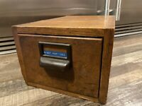 antique GLOBE WERNICKE large CARD INDEX wood FILE BOX Ord Dept US ARMY dovetail