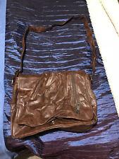 Mens River Island Brown Shoulder/brief satchel bag