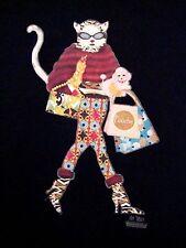 Eden Lan Cat Fashionista Diva Kitty Kitten Lover Funny T-Shirt L
