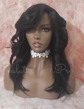 100% Human Hair Blend Deep Realistic Part 1/Jet Black Lace Front Wig