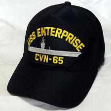 USS Enterprise CVN-65 US NAVY HAT OFFICIALLY LICENSED Baseball Cap Made in USA