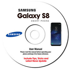 Samsung Galaxy S8-S8 Plus -S8+ (SM-G955F-SM-G955FD) User Manual Guide on CD-AT&T