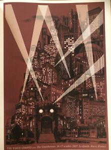 "The White Stripes by Rob Jones Paris, 2005 Gig Poster Indi Rock Art 14x10"" 169"