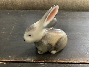 Hollohaza Hungarian Porcelain Rabbit Figurine !!!!