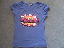 Blau-lila  T-Shirt mit neonfarbenen Aufdruck WHAMM!  C&A  Gr. 38
