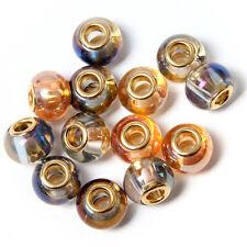 Lot 20pcs 153715 Golden Core Lampwork Glass Bead Fit European Charms Bracelet