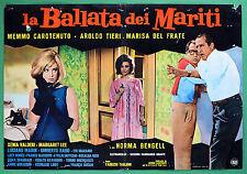 T55 FOTOBUSTA LA BALLATA DEI MARITI AROLDO TIERI MARISA DEL FRATE CAROTENUTO LEE