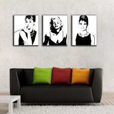 3 50×60×3cm Marilyn Monroe Canvas Prints Framed Wall Art Home Decor Painting