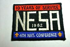 NESA 1982 4th National Conference 10 Years of Service Patch Boy Scouts - MINT