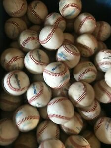 LOT OF 32 USED  LEATHER BASEBALLS--PRACTICE BALLS  FREE PRIORITY SHIPPING !