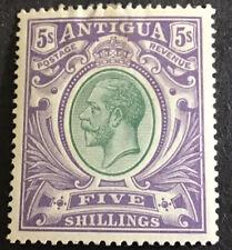 Antigua George V  5/- Grey Green & Violet  SG51 mounted mint C/V £95 in 2016.