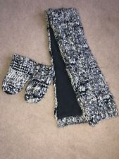Next Winter Grey Knitted Lined Scarf & Mittens - Age 1/2yrs