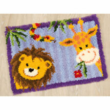 Giraffe & LION Vervaco Serratura Gancio Kit Tappeto making kit 55x40cm SERRATURA GANCIO tela