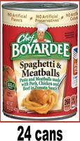 Chef Boyardee Spaghetti and Meatballs 24 cans 15 oz Expires 2021