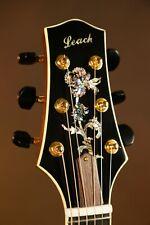 Harvey Leach Custom OM Floral Vine Acoustic Guitar