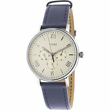 Timex Men's Southview TW2R29200 Silver Leather Japanese Quartz Dress Watch