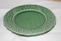 """BORDALLO PINHEIRO Portugal Green Rooster Chickens Corn Plates 8.5"""" Set of four 4"""