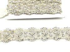 Diamante Bridal Belt Wedding Dress Sash Diamante Belt Applique Trim Beaded Pearl