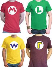 Super MARIO Bros T-Shirt MARIO / LUIGI / WARIO / WALUIGI Gaming Retro