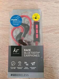 New ks Race Bluetooth Earphones red and black.