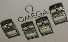 Lot of 4 Omega NOS BUCKLE Originale Fibbia STEEL 14mm