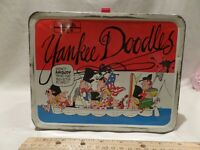 "VINTAGE 1975 ""YANKEE DOODLES"" METAL LUNCH BOX BY THERMOS/LOS ANGELES TIMES"